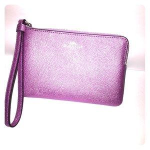 Magenta Coach Handbag